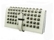 White Faux Leather Studded Womens Purse