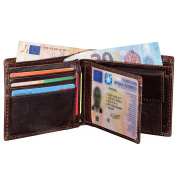 Men's Wallet, Jenuos Genuine Cowhide Leather Wallet for Men, Gift Boxed