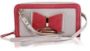 Kukubird Genuine Ladies LYDC Anna Smith With Ribbon Pattern and Gold Plate and Stud Purse With Gift Box