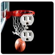 Rikki Knight Basketball in Hoop Single Outlet Plate