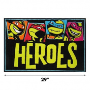 Fun Rugs Ninja Turtles TMNT Turtle Power Hero Kids Rug Activity Mat Small 19x29