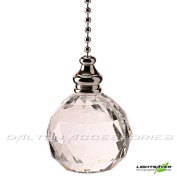 Polished Chrome with Acrylic Crystal Ball Light Pull by WML