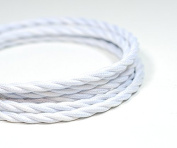 VINTAGE TWISTED FABRIC LIGHTING CABLE | Pure White | 3 core