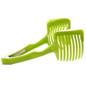 Kitchen Fruit Vegetable Tomatoes Clip Slicer Holder Lemon Potato Onion Cutter