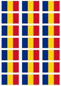 Romania Flag self adhesive matt paper labels / stickers