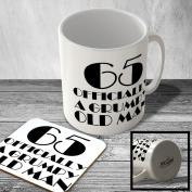 MAC_year_110 65 Officially a grumpy old man - Mug and Coaster set