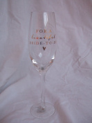 """""""For a Beautiful Bride to Be"""" Keepsake Sentimental Novelty Wine Glass in Presentation Box"""
