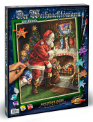 Schipper 609300696 Santa Claus by The Fireplace Paint By Numbers Board