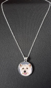 Westie Dog Pendant On 46cm Silver Plated Fine Metal Chain Necklace Ideal Birthday Gift N70
