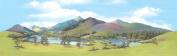 Peco Large Mountain Lake Backscene