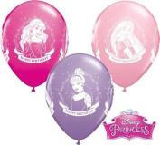 Disney Princess Happy Birthday 28cm Qualatex Latex Balloons x 10