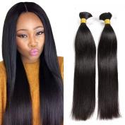 Hesperis Cheap Human Braiding Hair Bulk no Weft Brazilian Virgin Hair Straight Natural Hair Bundles for Braiding 8A Virgin Hair bundles 100g Per Bundle