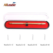 AliLeader Brass Ventilating Holder And 4 Different Size Stainless Steel Needles (1-1, 1-2, 2-3, 3-4) For Make/Repair Lace Wigs