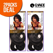 2-PACK DEAL ! New Born Free Human Hair Weave Pre-Cut Phoebe 5Pcs