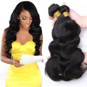 Jaycee Hair 7a Brazilian Weave Virgin Hair Body Wave Weft 4 Bundles 100% Unprocessed Human Hair Extensions Natural Colour (100+/-5g)/pc