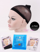 2 Pack Stocking Wig Cap 2 Pcs Per Pack Black Colour