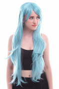 Nuoqi Sweet Girls Anime Long Synthetic Human Hairs Cosplay Wigs