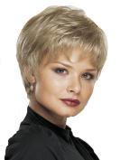 Short Culry Women Wigs Synthetic Platium Blonde Wigs