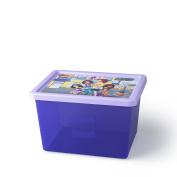 LEGO Stackable Friends Storage Box, Transparent Purple, Large, 18 Litre