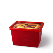 LEGO Stackable Ninjago Storage Box, Transparent Red, Large, 18 Litre