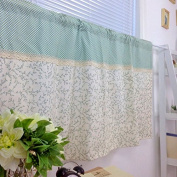 Rural Style Cotton Linen Curtain Panel Valance for Kitchen Bath Laundry Bedroom Living Room 130cm x 60cm