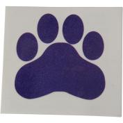 Purple Paw Print Temporary Tattoos