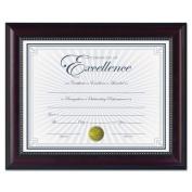 DAX - Prestige Document Frame, Rosewood/Black, Gold Accents, Certificate, 22cm x 28cm N3028N2T (DMi EA