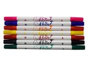 Skin Companion Twin Tip Tattoo Pen - 6+1 Free - Multi Colour Pack