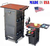 R1-PTH Salon SPA Rollabout Cart w/Lockable door and Cherry Lam. TOP MADE IN USA by Dina Meri