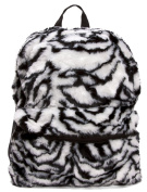 Furry Animal Print Backpack