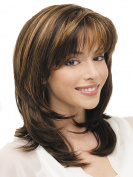 Long Natural Women Wigs Mixed Colour Synthetic Wig for Daily Use