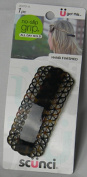Scunci Effortless Beauty Large Auto Clasp Barrette, Brown oor Bllack, Colours Very