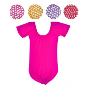 Crochet Hair Bun Cover with Rhinestones and Leotard Set