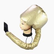 Sanling Portable Soft Hair Drying Cap Bonnet Hood Hat Blow Dryer Attachment Gold