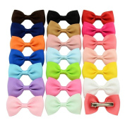 Candy Barrettes Baby Girls Toddler Bowknots Solid Ribbon Hair Clip Bows Girls Hairpins Hair Accessories