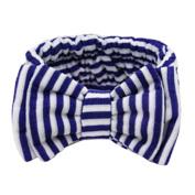 The Navy Style Cosmetic Headband HairBand Elastane Headband HeadWrap White/Blue