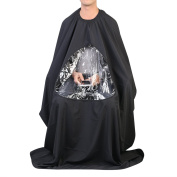 Goege Extra Long Salon Barber gown Stylist Cape Hairdressing Hair Cutting Hairdress Apron Phone Clear Viewing Window Cape