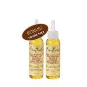 Shea Moisture Jamaican Black Castor oil Strengthen Grow & Restore Hair Serum w/ Shea Butter & Peppermint 60ml - Value Double Pack qty of 2 Each