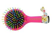 American Jewel Rainbow Hair Brush, Pink