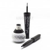 Italia Deluxe Dramatic Eyes 2 in 1 Liquid & Pencil Eyeliner Black Waterproof