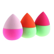 Puff,Baomabao 3PCS Makeup Foundation Puff Water Droplets Sponge