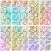 Mudder Nail Vinyls Stencil Stickers Set, 24 Sheets 72 Different Designs Cute Easy Nail Art Nail Vinyls Nail Stencil Sheets, 144 Pieces