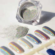 Sindy New 1g/Box Holographic Laser Powder Nail Art Glitter Rainbow Pigment Manicure Chrome Pigments