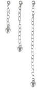 A-Ha - Necklace - Bracelet Extender Set - 3 pcs (2.5cm 5.1cm 10cm ) Silver Tone