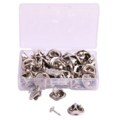Shapenty 4.5mm Diameter Tie Tacks Blank Pins with 11mm Brass Butterfly Clutch Back Replacement Jewellery Buckle