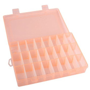 TTnight Adjustable 24 Compartment Plastic Storage Box Jewellery Earring Case Organiser