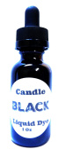 30ml Bottle of BLACK Highly Concentrated Liquid CANDLE Dye - Amber Glass Dropper Bottle with Childproof Cap.