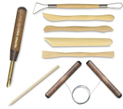 Clay Modelling & Ceramic Tools + Wire Clay Cutter / Wooden Detail Tool / Shaping / sculpting / Hole Cutter - 0.6cm / wire scraping tool