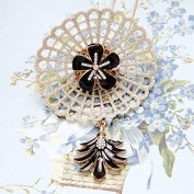 Handmade Flower And Feather Brooch Label Pin Women Accessories