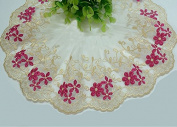 Rosered Yellow 3 Yards Grace Flower Embroidery Mesh Lace Fabric Ribbon Dress Lace Curtain Home Party Decorations 8.9cm Wide